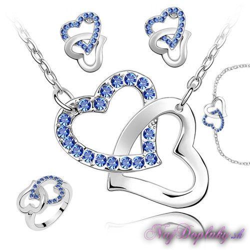 dvojite srdce modre