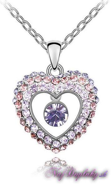 fialovy privesok srdce II