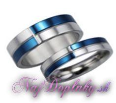prsten modro-strieborny