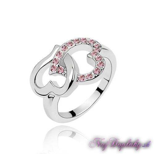 prsten srdcovy ruzovy